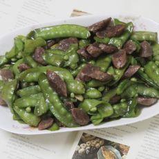 胡兰豆炒腊肠
