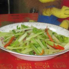 腊肉炒空心芹菜