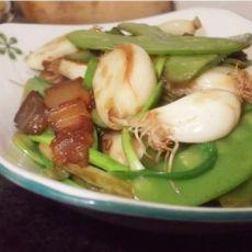 荷兰豆炒大蒜的做法