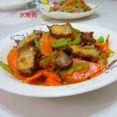腊肉红萝卜片的做法
