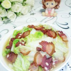 腊肉炒大白菜