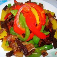 彩椒炒腊肉