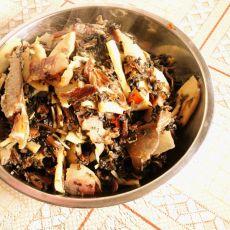 酸菜干炒冬笋的做法