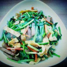韭菜炒三丝