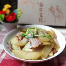 腊肉炒大头菜的做法