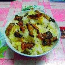 冬菇腊肉糯米饭