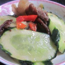 剁椒腊肉炒黄瓜