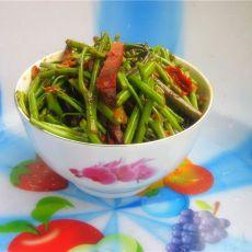 白米蕨炒腊肉