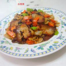 豉香干萝卜腊肉的做法