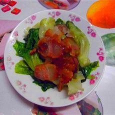 腊肉拌生菜