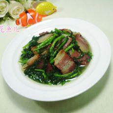 腊肉炒茼蒿
