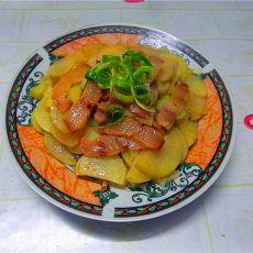 腊肉煮土豆