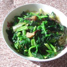 腊肉菠菜炒粉皮