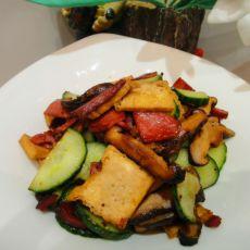 香菇油豆腐炒腊肉
