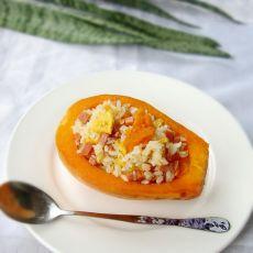 木瓜火腿蛋炒饭的做法