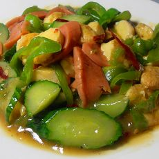 火腿黄瓜日本豆腐