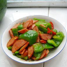 火腿炒菜椒的做法