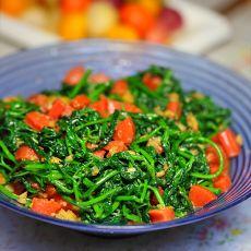 蒜蓉火腿拌白花菜的做法