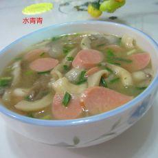 火腿蘑菇汤