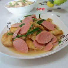 油豆腐炒火腿