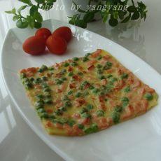 豌豆火腿粒蛋饼