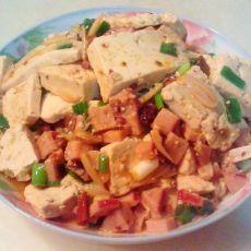 火腿炖豆腐