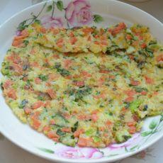 翻转米饭蔬菜煎饼