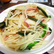 火腿青椒土豆丝