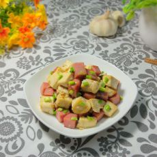 豆腐块炒火腿