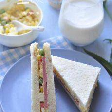 火腿沙拉三明治