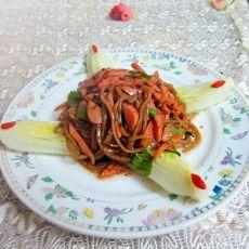 火腿粉丝白菜的做法