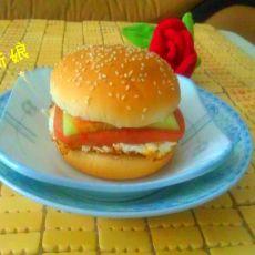 鸡蛋火腿汉堡