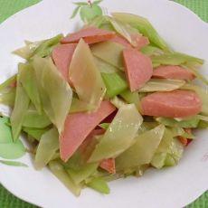 火腿炒莴苣