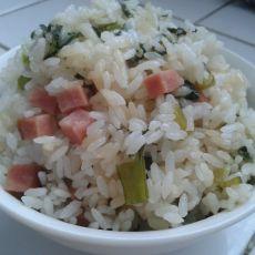 青菜火腿焖饭