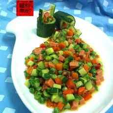 杂蔬炒火腿丁