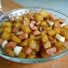 土豆烧火腿丁