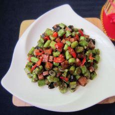 火腿炒豇豆的做法