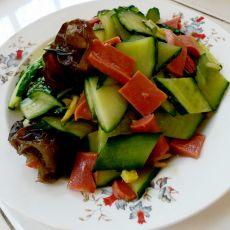 黄瓜炒火腿片