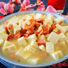 北极虾烩豆腐的做法