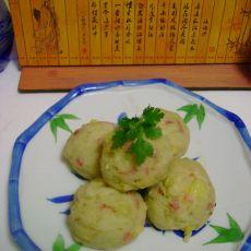 火腿玉米土豆圆