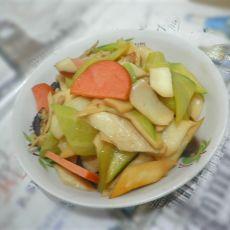 杏鲍菇黄瓜炒火腿