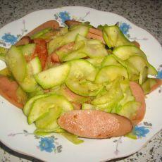 火腿炒角瓜