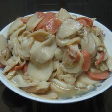 鸡腿菇炒火腿