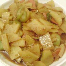 土豆丝瓜炒火腿
