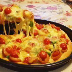杏鲍菇火腿披萨