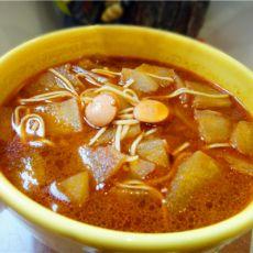 冬瓜火腿面条汤