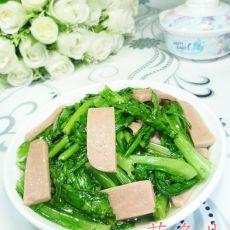 火腿片炒油麦菜的做法