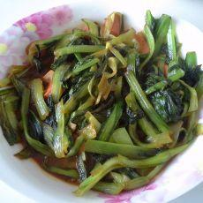小白菜炒火腿
