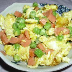 豌豆火腿炒蛋