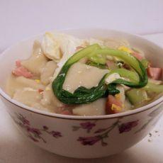 火腿面片汤